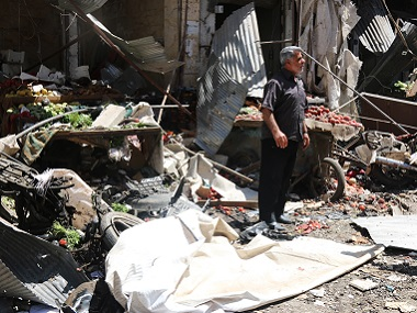 Truce in Syria on brink of collapse after airstrikes on markets derail Geneva talks