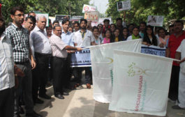 Manav Rachna Dental College organized Anti Tobacco Rally to mark World No Tabacco Day