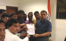 दिल्ली के पत्रकारों ने किया प्रदर्शन