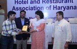 हरियाणा टूरिज्म को बढ़ावा देने पर  होटल डिलाईट को पुरस्कार