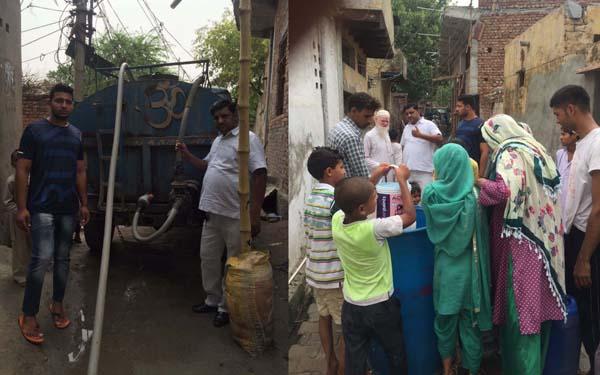 लोकसभा प्रभारी आशिफ सैफी ने लोगों को करवाया पानी उपलब्ध