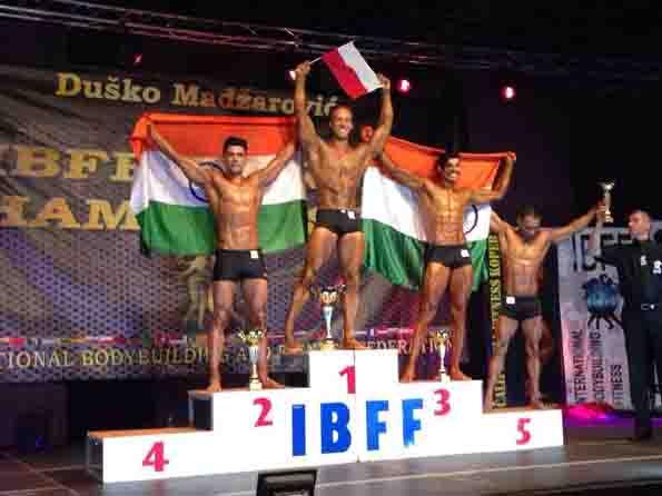 बॉडी बिल्डिग प्रतियोगिता में लढोली गांव के  लोकेश ने जीत पदक
