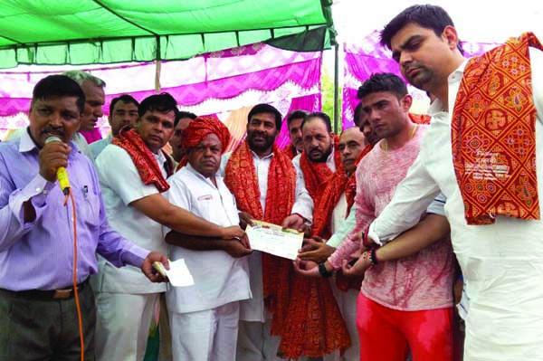 इण्डियन स्पोर्टस संघ ने किया लोकेश राजपूत का स्वागत