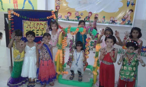 विद्यासागर इंटरनेशनल स्कूल में हरियाली तीज का आयोजन