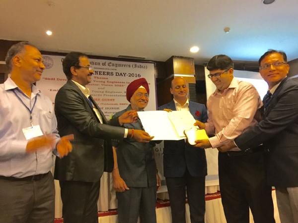 भारतीय वाल्वस प्रा.लिमिटेड के निर्देशक गौतम मल्होत्रा हुए सम्मानित