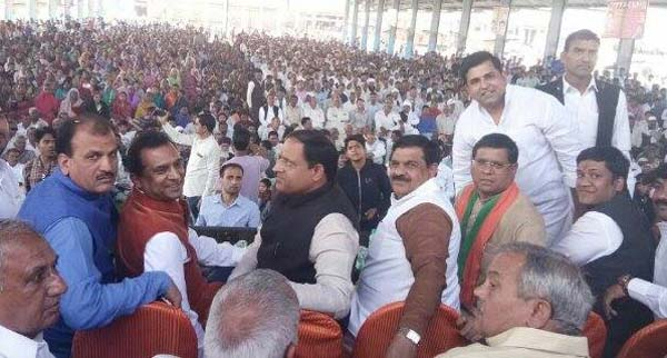 उद्योग मंत्री विपुल गोयल के स्वागत में अभिनंदन रैली का आयोजन