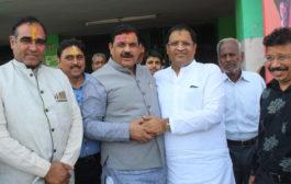 बीजेपी की जीत पर उद्योग मंत्री ने किया भंडारे का आयोजन