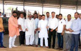 भाजपा नेता राजेश नागर ने तिगांव मण्डी का दौरा किया