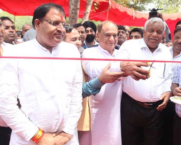 केबिनट मंत्री विपुल गोयल ने किया भरपेट भोजन योजना का शुभारंभ