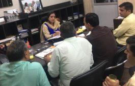 निगमायुक्त ने अभियनताओं से की मीटिंग