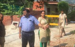 भारत मिशन के अर्तगत निगमायुक्त ने किया क्षेत्रों का निरीक्षण