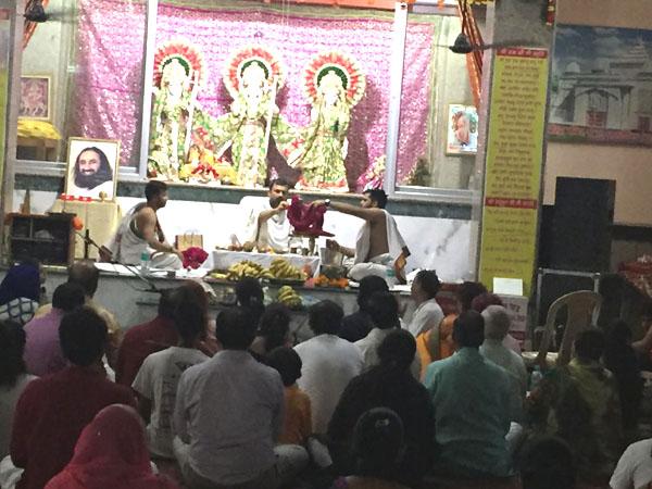ऑर्ट आफ लिविंग संस्था द्वारा 3 july से 7 aug  तक रूद्र पूजा का आयोजन