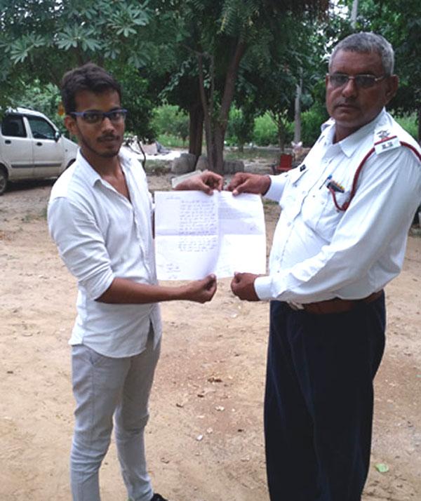 युवा नेता राहुल दीक्षित ने दिए ट्रैफिक को लेकर सुझाव
