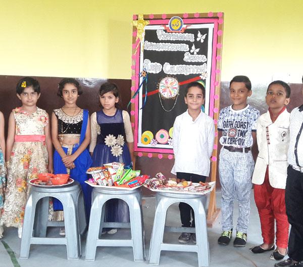 विद्यासागर इंटरनेशनल स्कूल में मनाया गया रक्षाबंधन का त्योहार