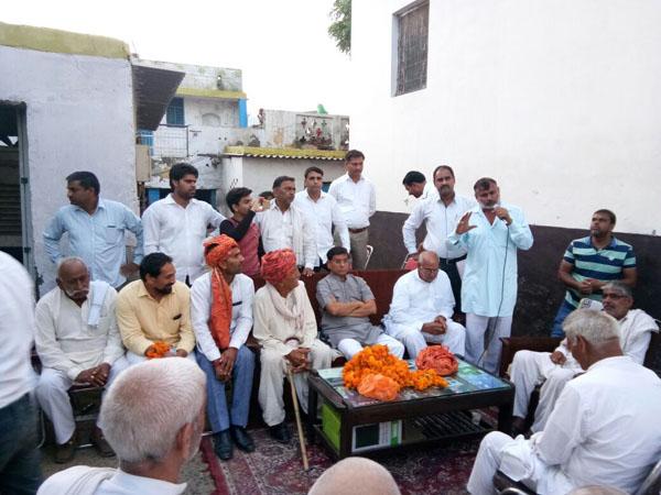 भाजपा नेता राजेश नागर ने सम्मान समारोह में लोगों की समस्याएं सुनीं