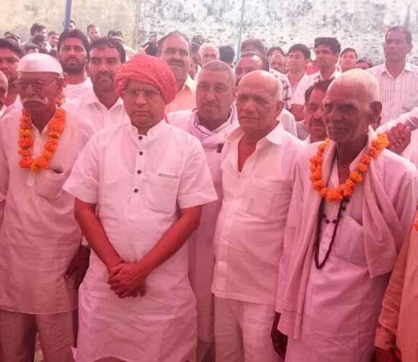 भाजपा नेता राजेश नागर का लहडौला में जोरदार स्वागत
