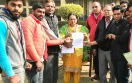 युवा आगाज ने सौंपा नेहरू कॉलेज प्राचार्या  को ज्ञापन