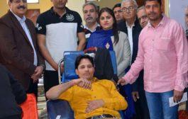 शहीद भगत सिंह सेवा सदन द्वारा आयोजित शिविर में हुआ 99 यूनिट ब्लड एकत्रित