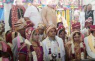 वैष्णोदेवी मंदिर में सामूहिक विवाह स मेलन में 25 जोड़ों का विवाह हुआ