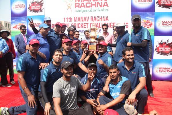 स्लेज हैमर ने जीता मानव रचना कॉर्पोरेट क्रिकेट कप सीजन-11