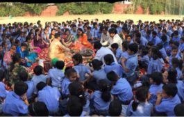 सूरजकुंड इंटरनेशनल स्कूल  में हवन का आयोजन किया