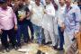 पत्रकार उत्पीडऩ के विरोध में फरीदाबाद के पत्रकारों का धरना