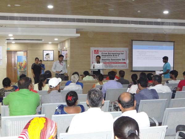 Metro Hospital  organized a free screening of Hepatitis