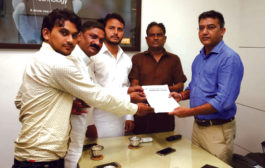 302 कर्मचारियों की बहाली को लेकर भाजपा प्रदेश प्रवक्ता को सौंपा मांगपत्र