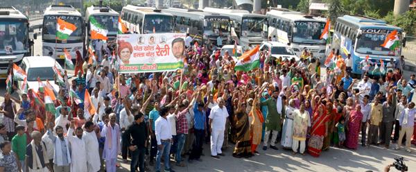 विकास चौधरी के नेतृत्व में हजारों लोग पहुंचे पानीपत रैली में