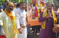 कैबिनेट मंत्री विपुल गोयल के घर गणपति की स्थापना, 5 दिन तक चलेगा उत्सव