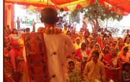 भव्य कलश यात्रा के साथ सैक्टर-48 में श्रीमद भागवत कथा का शुभारंभ