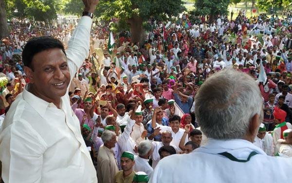 शास्त्री की जयंती पर भाकियू की किसान स्वाभिमान रैली