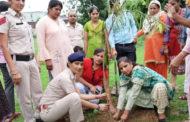 महिला थाने में पौधारोपण कार्यक्रम का आयोजन