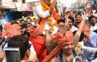 विजय प्रताप की पदयात्रा में उमड़ा जनसैलाब ,छत्तीस बिरादरियों ने दिया जीत का आर्शिवाद