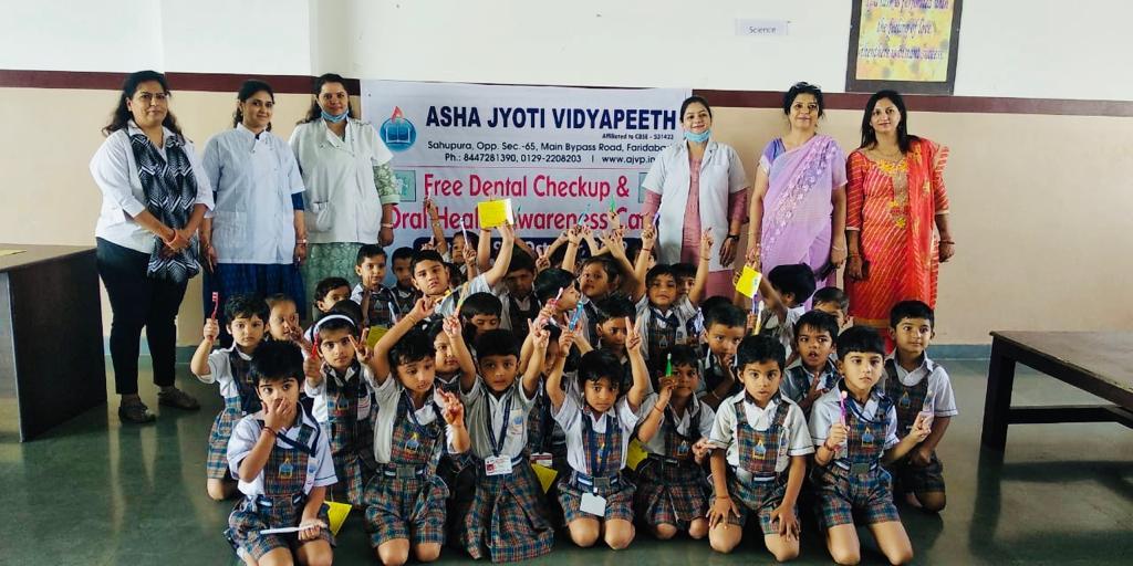 आशा ज्योति विद्यापीठ में दंत जांच शिविर का आयोजन
