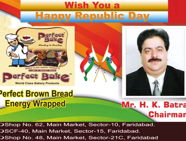 Republic Day greeted by Perfect bread