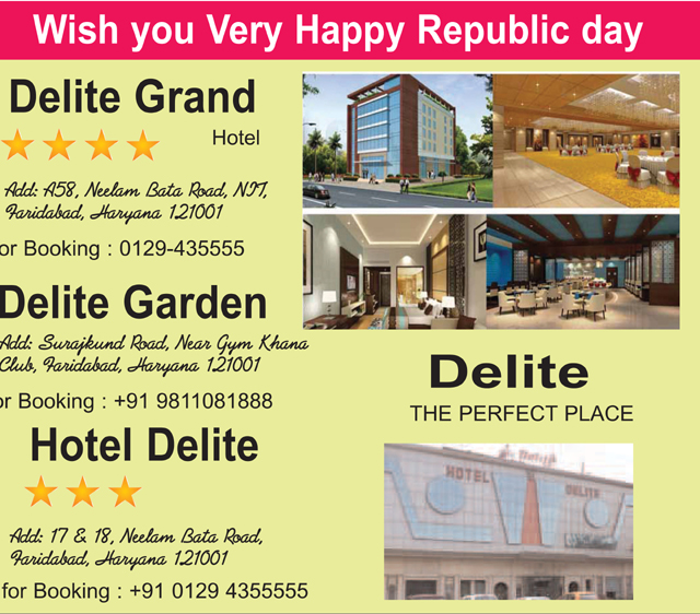 Republic Day greeted by Hotal delite