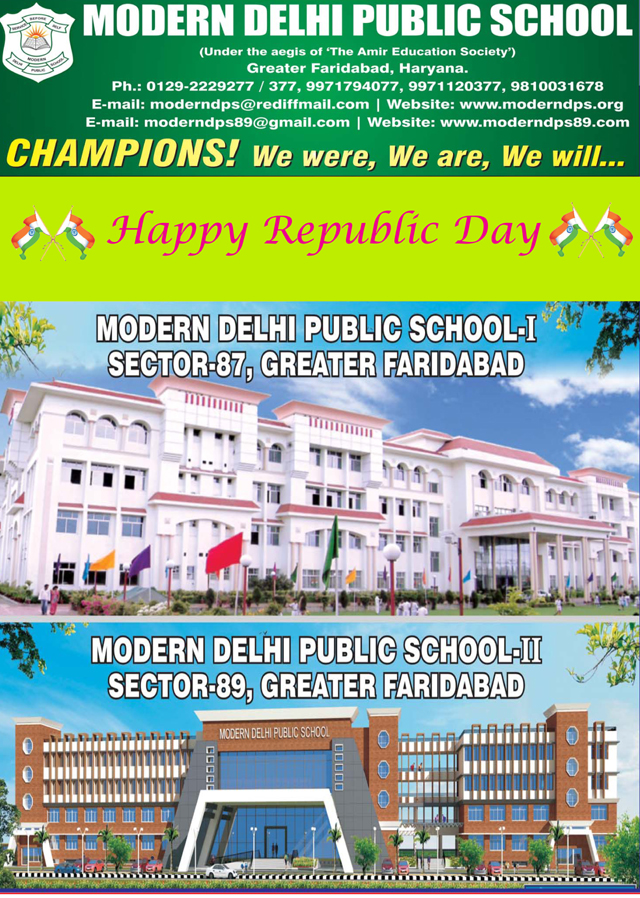 Republic Day greeted by MODERN DELHI PUBLIC SCHOOL