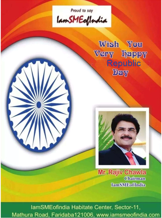Republic Day greeted by Rajiv chawla
