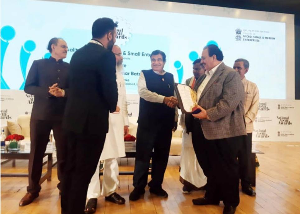 परफेक्ट ब्रेड ग्रुप के चेयरमैन एच.के. बतरा हुए भारत सरकार द्वारा सम्मानित