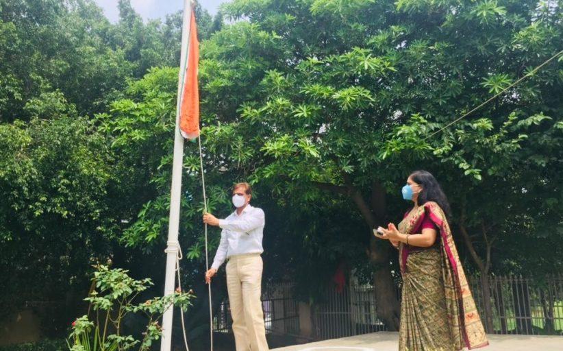 सूरजकुंड इंटरनेशनल स्कूल ने 74 वां स्वतंत्रता दिवस मनाया।