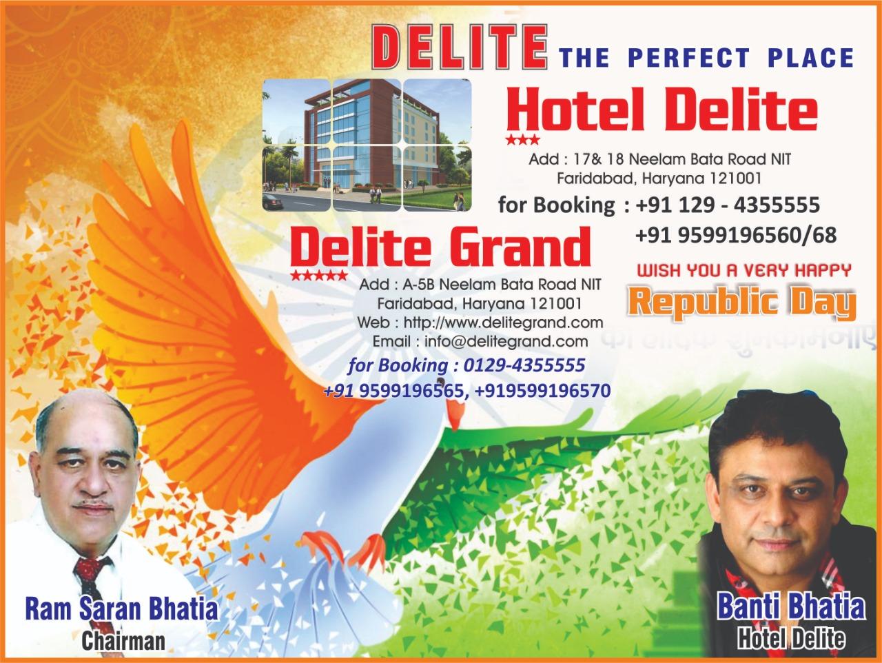 Republic day wish by hotal delite