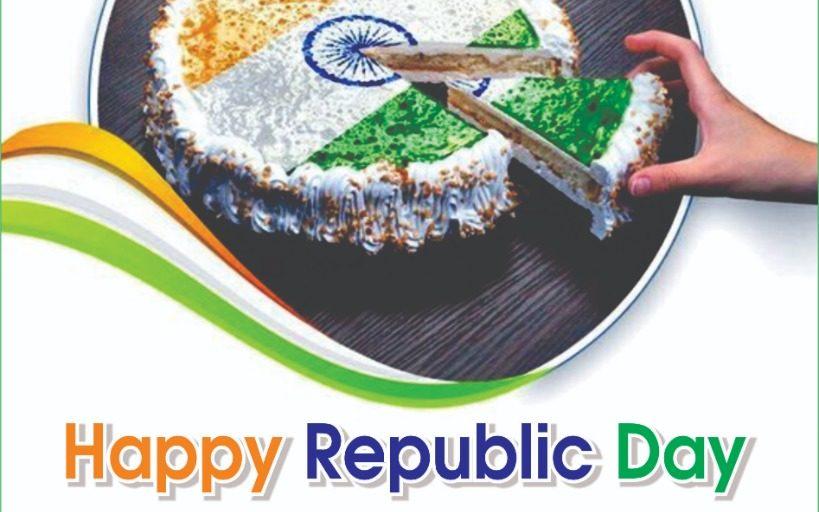 Happy republic day wish by perfect bread