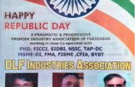 Repubic day wish by dlf assocation faridabad