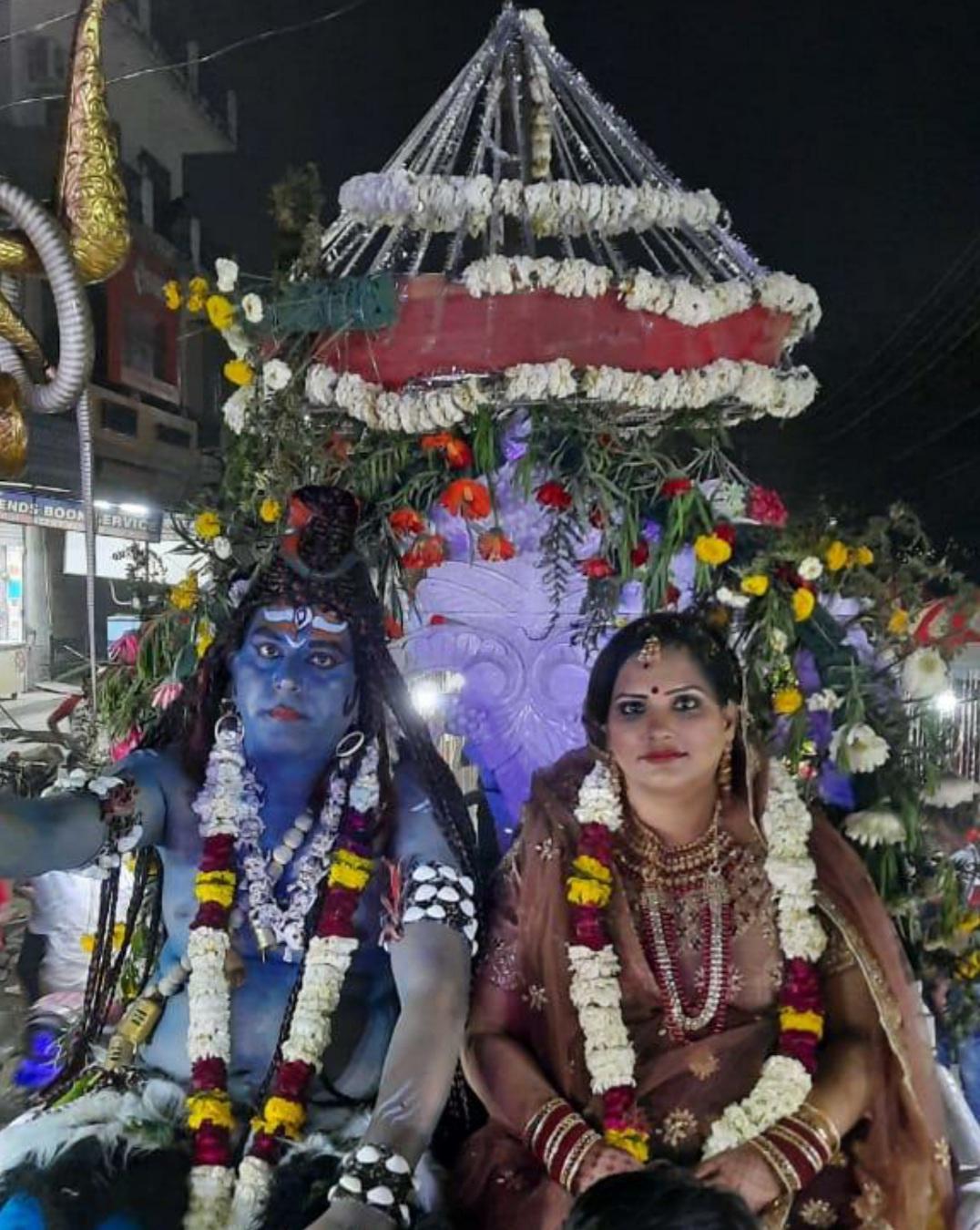 वैष्णोदेवी मंदिर से निकाली  भव्य शोभा यात्रा प्रधान जगदीश भाटिया ने किया अतिथियों का स्वागत