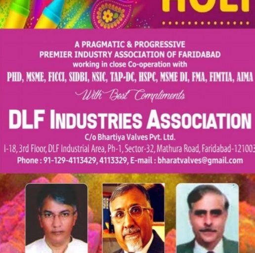 Happy holi wish by DLF assocation