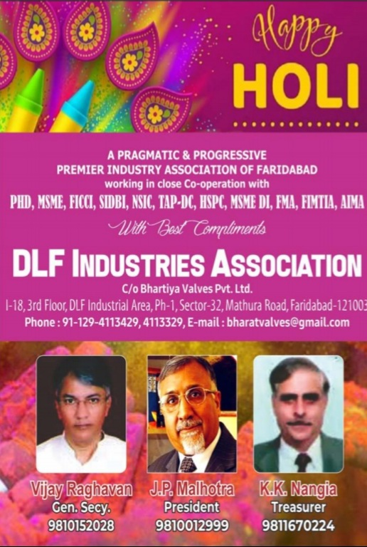 Happy holi wish by DLF assocation